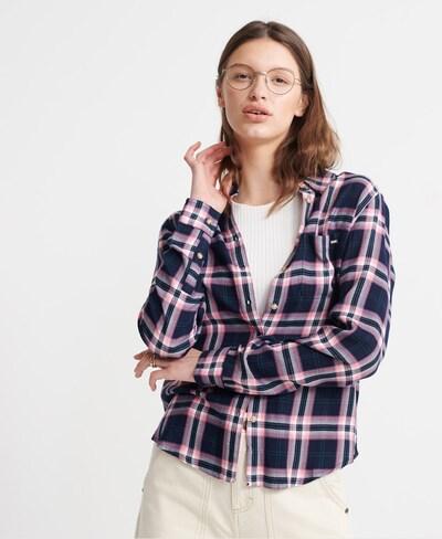 Superdry Hemd in lila, Modelansicht
