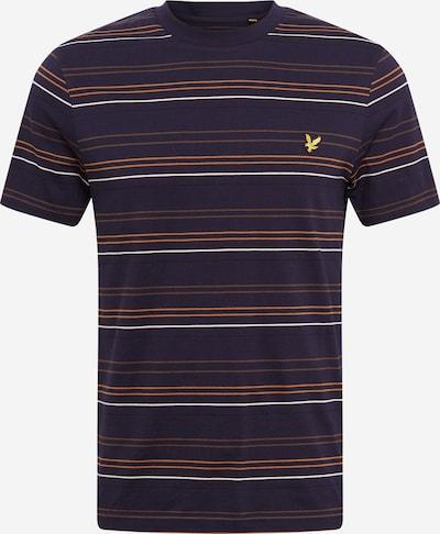 Lyle & Scott Shirt in de kleur Navy / Bruin / Sinaasappel / Wit, Productweergave