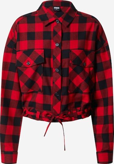 Urban Classics Blouse in de kleur Rood / Zwart, Productweergave