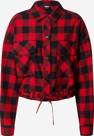 Urban Classics Hemdbluse in rot / schwarz, Produktansicht
