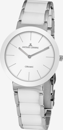 Jacques Lemans Uhr in silber / weiß, Produktansicht