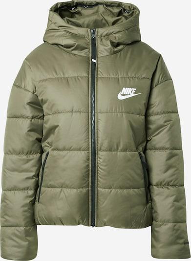 Nike Sportswear Prijelazna jakna u maslinasta / bijela, Pregled proizvoda