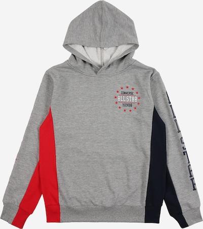 CONVERSE Sweatshirt 'Allstar' in nachtblau / dunkelgrau / melone, Produktansicht
