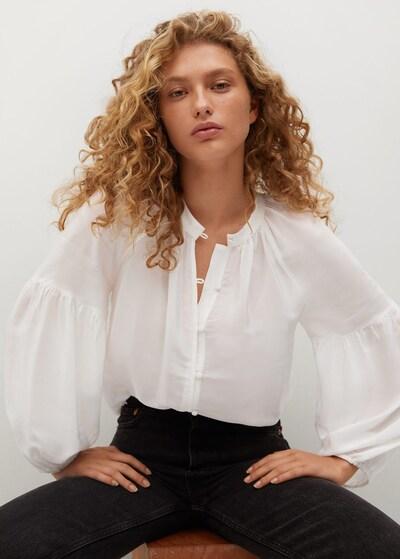 MANGO Bluse 'Molly' in weiß, Modelansicht