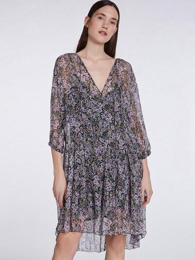 SET Kleid in goldgelb / grün / mauve / pastelllila / schwarz, Modelansicht