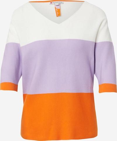 Megztinis iš STREET ONE , spalva - purpurinė / oranžinė / balta, Prekių apžvalga