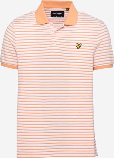 Tricou 'Summer' Lyle & Scott pe galben / portocaliu caisă / negru / alb, Vizualizare produs