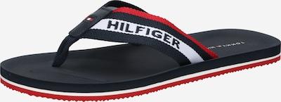 TOMMY HILFIGER Sandalias de dedo en azul noche / rojo / blanco, Vista del producto