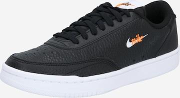 melns Nike Sportswear Zemie brīvā laika apavi 'Court Vintage Premium'