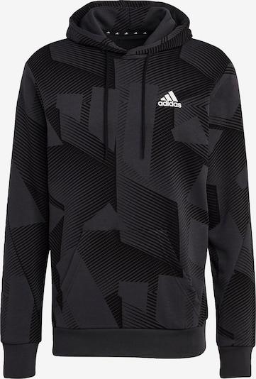ADIDAS PERFORMANCE Sportsweatshirt in de kleur Donkergrijs / Zwart / Wit, Productweergave