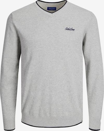 JACK & JONES Sweater 'TONS' in Light grey / Black, Item view