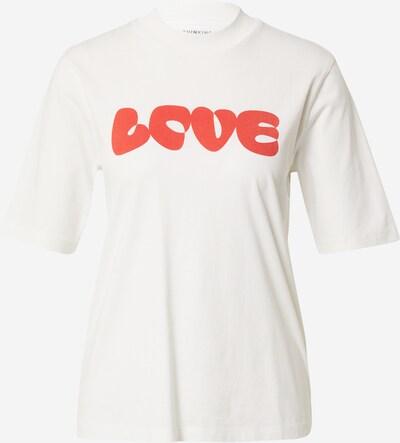 Thinking MU T-shirt 'LOVE' en rouge orangé / blanc, Vue avec produit