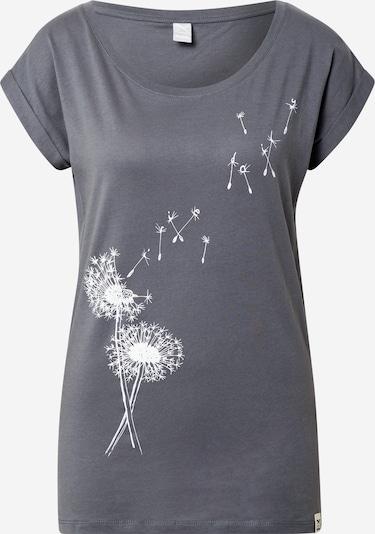 Iriedaily T-Shirt 'Pusteblume' in dunkelgrau / weiß, Produktansicht
