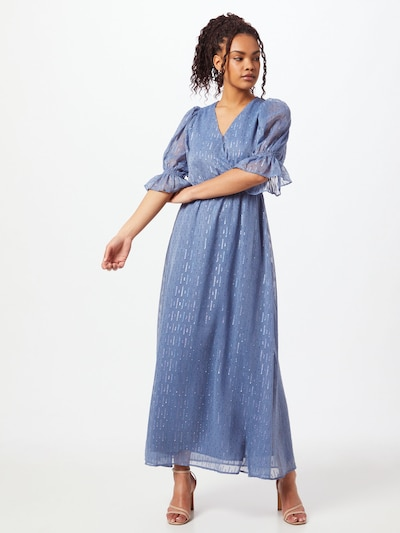 Neo Noir Kleid 'Venga' in rauchblau / silber, Modelansicht