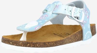 LICO Sandales 'BIOLINE' en bleu clair / rose / blanc, Vue avec produit