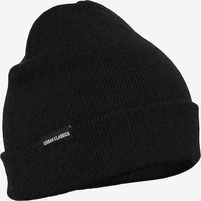 Urban Classics Bonnet ' Basic Flap Beanie ' en noir, Vue avec produit