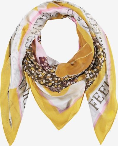 GERRY WEBER Tuch in braun / gelb / pink / schwarz / weiß, Produktansicht