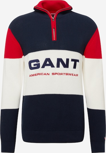 GANT Sveter - námornícka modrá / červená / biela, Produkt