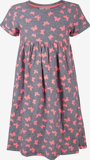 happy girls Kleid in dunkelgrau / neonpink, Produktansicht