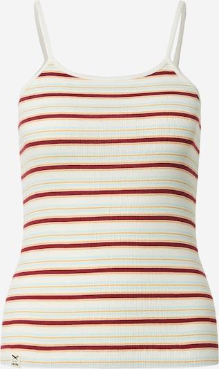 Iriedaily Top 'Mimie' in de kleur Lichtblauw / Goudgeel / Bourgogne / Wit, Productweergave
