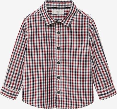 MANGO KIDS Hemd 'CHECKS' in bordeaux / schwarz / weiß, Produktansicht