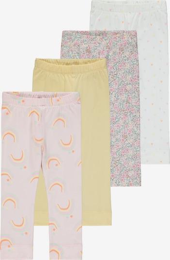 NAME IT Leggings 'BATARAIA' in hellgelb / lila / pink / weiß, Produktansicht