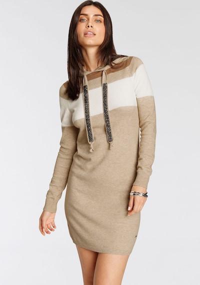 LAURA SCOTT Dress in Sand / Caramel / Cappuccino, View model