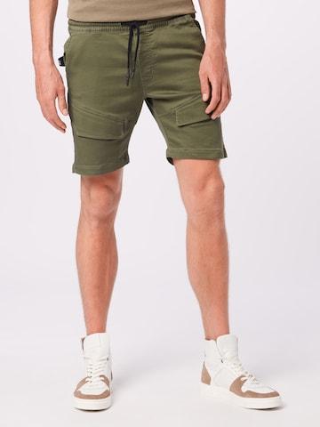 JACK & JONES Klapptaskutega püksid 'Gus', värv roheline