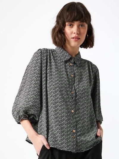Bluză 'Rosmarine' Louche pe negru / alb, Vizualizare model