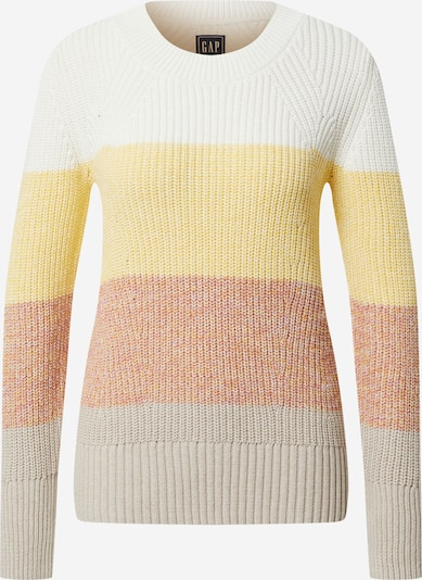 GAP Sweater in Yellow / Grey / Pink / White: Frontal view