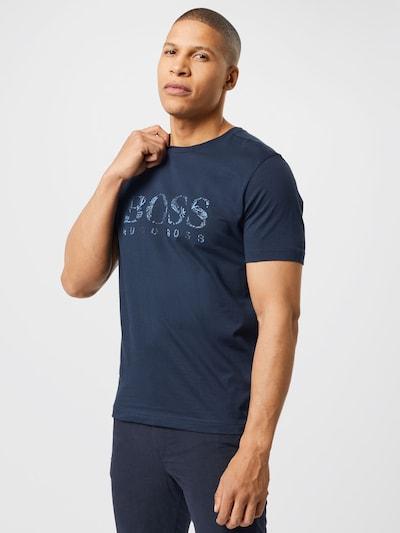 BOSS ATHLEISURE T-Shirt en bleu marine / turquoise: Vue de face