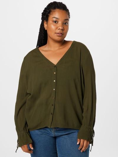 ABOUT YOU Curvy Bluse 'Nena' in khaki, Modelansicht