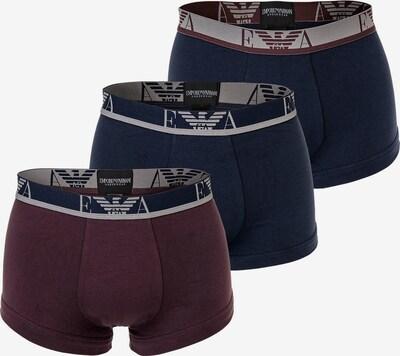 Emporio Armani Boxers en marine / bleu marine / gris / rouge foncé, Vue avec produit