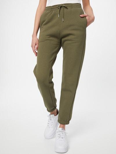 SECOND FEMALE Hose in oliv, Modelansicht