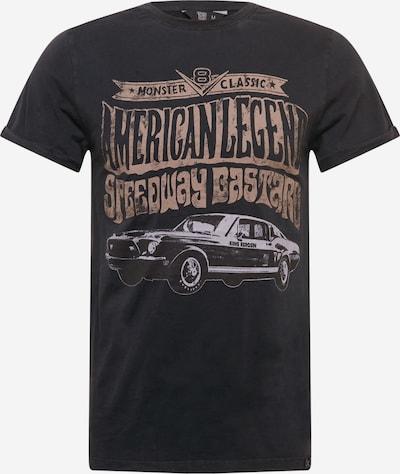 King Kerosin T-Shirt en anthracite / gris clair / pêche / noir, Vue avec produit