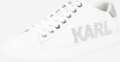 Karl Lagerfeld Zemie brīvā laika apavi 'KUPSOLE II' Sudrabs / balts, Preces skats