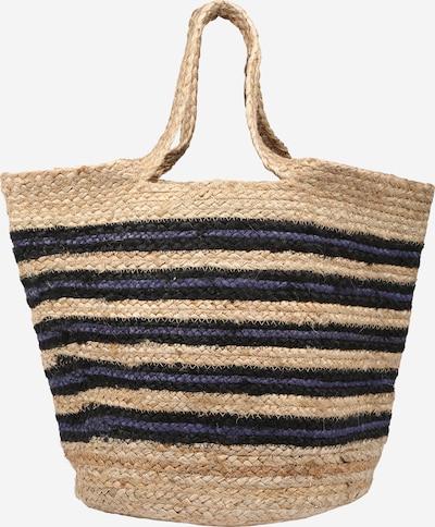 Samsoe Samsoe Sac de plage en beige / bleu marine / noir, Vue avec produit