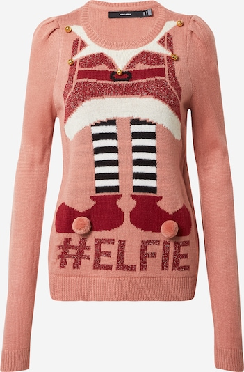 VERO MODA Pullover 'New Elfie' in mischfarben / rosa, Produktansicht