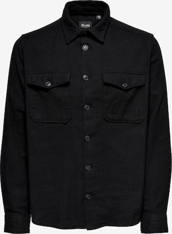 Camicia 'Milo' di Only & Sons in nero