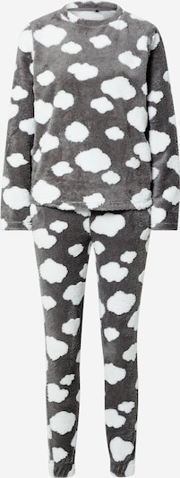 ONLY Pyjamas 'Caya' i mörkgrå / vit, Produktvy