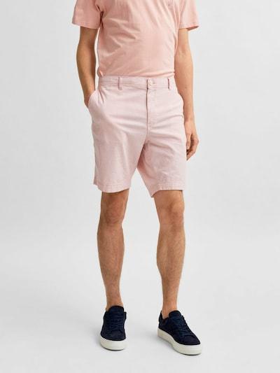 SELECTED HOMME Chino nohavice 'Isac' - pastelovo ružová, Model/-ka