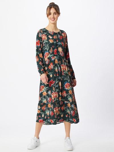 STREET ONE Kleid in pastellgrün / dunkelgrün / mischfarben / orangerot / weiß, Modelansicht