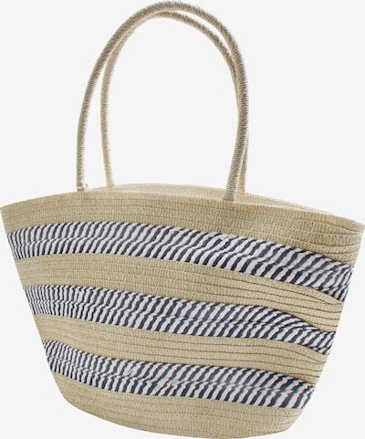 SAMAYA Strandtasche 'Brampton' in beige / rauchblau, Produktansicht