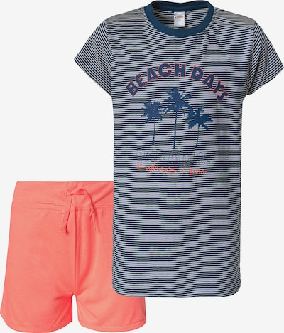 STACCATO Schlafanzug in blau / orange / weiß, Produktansicht