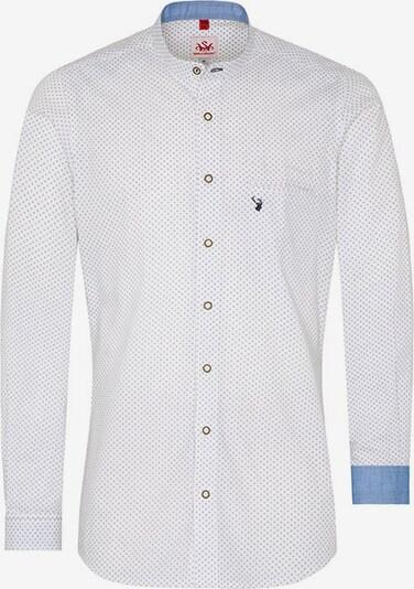 SPIETH & WENSKY Trachtenhemd in blau / weiß, Produktansicht