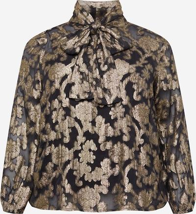 Guido Maria Kretschmer Curvy Collection Bluse 'Florentine' in gold / schwarz, Produktansicht