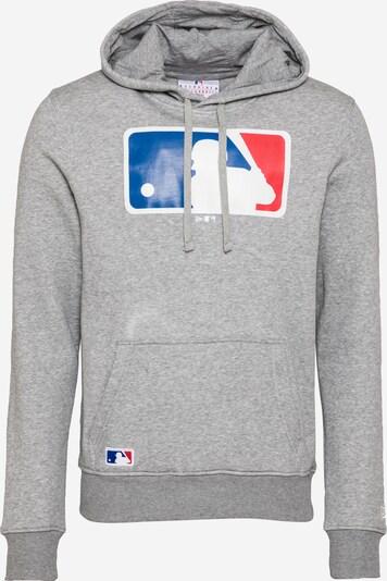 NEW ERA Sweatshirt in himmelblau / graumeliert / rot / weiß, Produktansicht