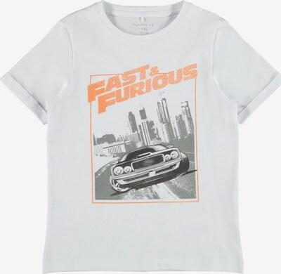 NAME IT Majica 'FAST&FURIOUS' u narančasta / crna / bijela, Pregled proizvoda