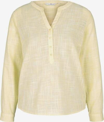 TOM TAILOR Blouse in de kleur Pasteelgeel / Wit, Productweergave