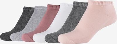 MUSTANG Socks in Grey / Dark grey / Pink / Pastel pink / White, Item view